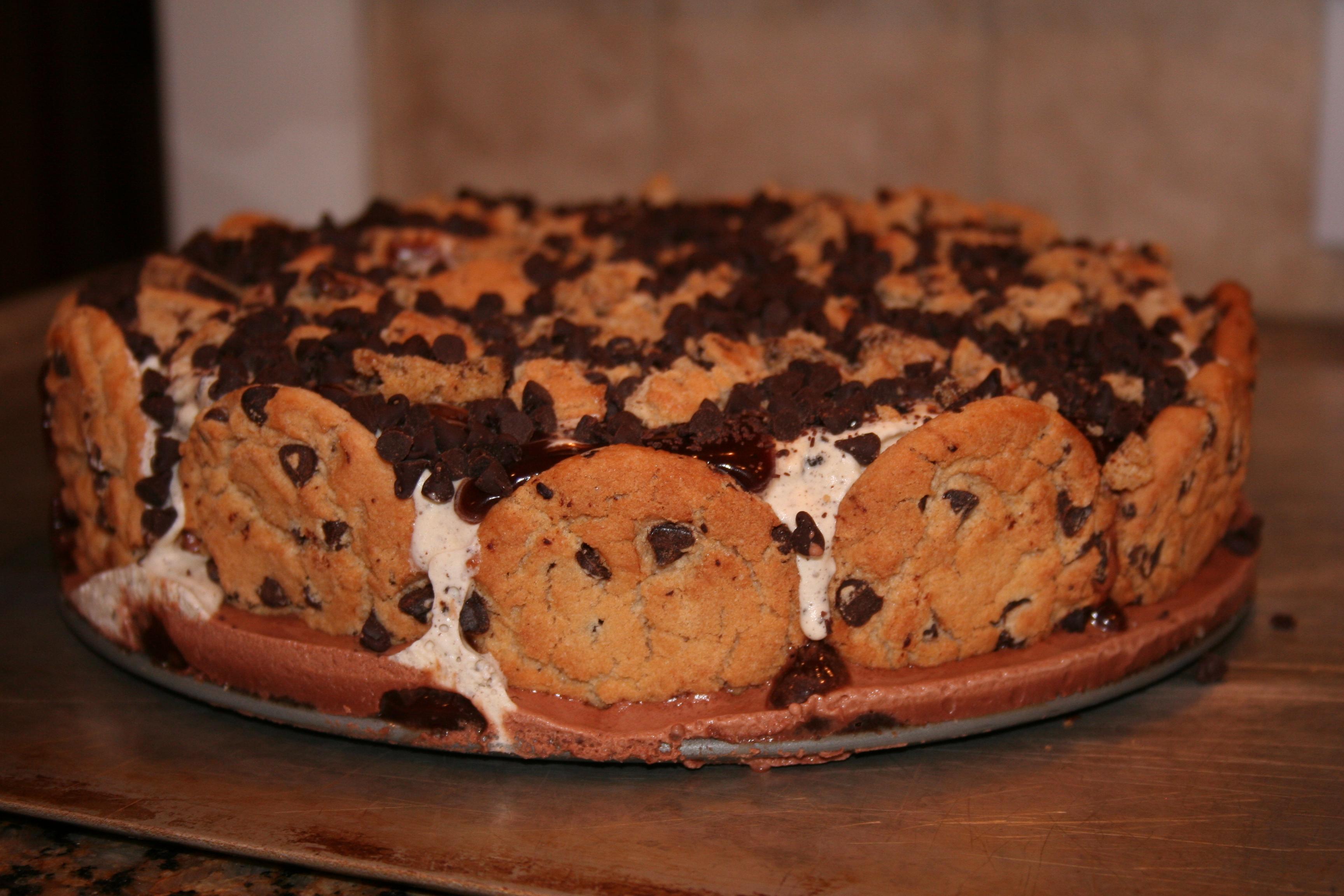 Chocolate Chip Ice Cream Cake | Liv Lives Life