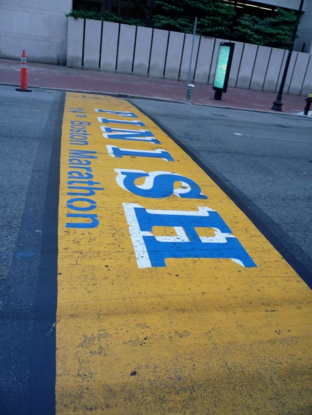 The Boston Marathon Finish Line!